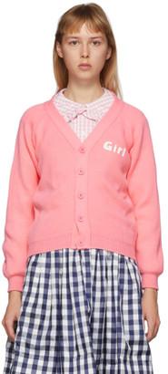 COMME DES GARÇONS GIRL Pink Lochaven Of Scotland Edition Girl Cardigan