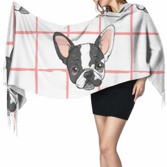 Yushg Funny Smart Cute Animal Pet Bulldog Large Lightweight Scarf Scarfs For Girls Girls Wrap Shawl 77x27inch/196x68cm Large Soft Pashmina Extra Warm