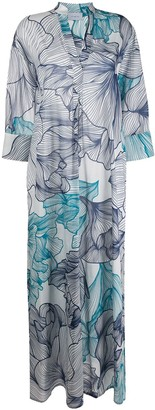 Malo Floral Print Kaftan Dress