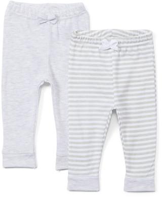 Sweet & Soft Boys' Casual Pants Grey - Gray Stripe & Solid Pants Set - Newborn & Infant