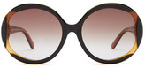 Missoni Women&s Oversized Oval Glam Sunglasses