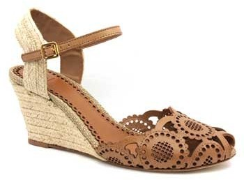 "Tory Burch Gia"" Clay (Natural) Vegan Leather Espadrille"