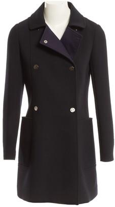 Hermes Navy Wool Coat for Women