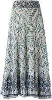 Cecilia Prado knit midi skirt - women - Cotton/Acrylic - P