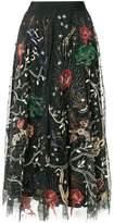 Amen sequin pattern embroidered midi skirt