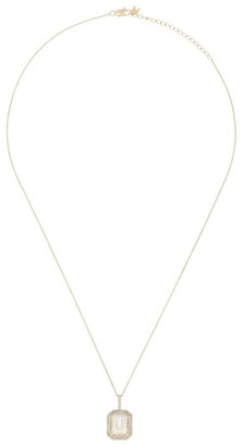 Mateo 14K yellow gold U-initial diamond necklace