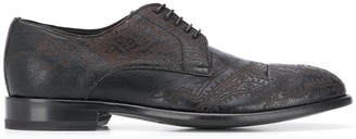 Etro Paisley-Print Derby Shoes