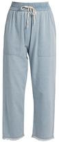 Masscob Frayed-hem cropped denim trousers