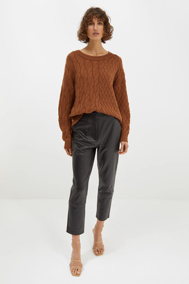 SABA Chloe Double Cable Wool Blend Knit