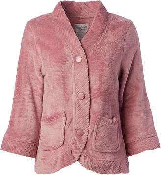 Casual Moments Women's Bed Jacket W/Velcro Openings
