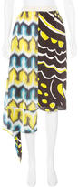 Chris Benz Asymmetrical Silk Skirt