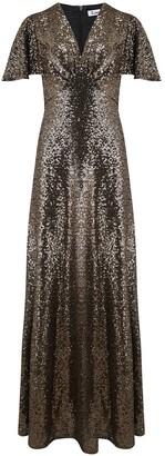 Libelula Long Tammim Dress Gold Sequins