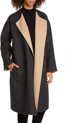 Eileen Fisher Reversible Alpaca & Wool Blend Coat
