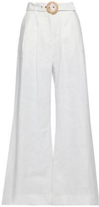 Zimmermann Radiate Belted Linen Wide-leg Pants