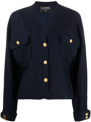 Chanel Pre Owned 1980s V-neck jacket