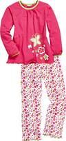Playshoes Girl's Single Jersey Butterfly Pyjama Set,(Manufacturer Size:5-/116 cm)