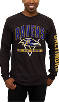 Junk Food Clothing Men's Baltimore Ravens Nickel Formation Long Sleeve T-Shirt