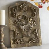Pier 1 Imports Wood Carved Fruit Basket Wall Decor