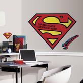 RoomMates 5 in. x 19 in. Superman Logo Dry Erase Peel and Stick Giant Wall Decal