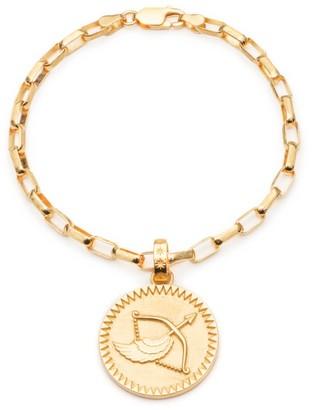 Rachel Jackson London Statement Zodiac Art Coin Sagittarius Bracelet Gold
