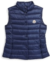 Moncler Toddler Girl's Liane Water Resistant Down Puffer Vest