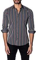 Jared Lang Colorblock Stripe Shirt