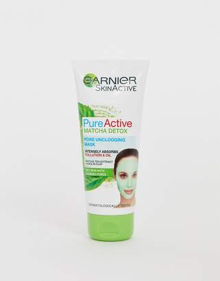 Garnier Pure Active Matcha Detox Pore Unclogging Face Mask 100ml-No Colour