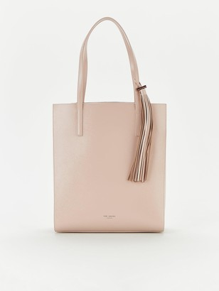 Ted Baker Patent Tassel North South Shopper - Nude