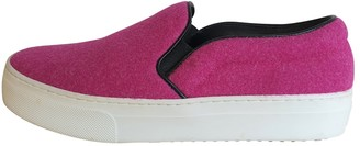 Celine Pink Cloth Trainers