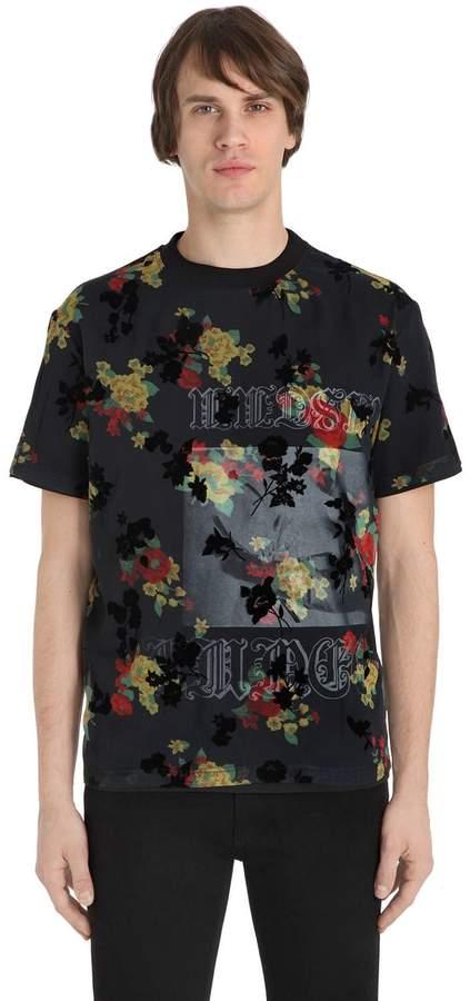 McQ Overlay Printed Cotton Jersey T-Shirt
