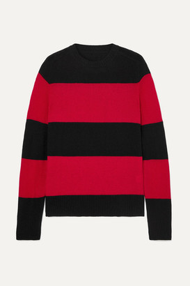 RE/DONE Striped Wool And Cashmere-blend Sweater - Red
