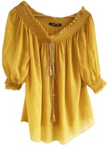Roberto Cavalli Yellow Silk Top for Women