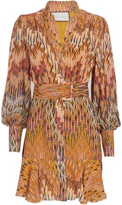 Alexis Lishan Belted Printed Mini Dress