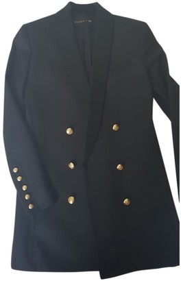 Balmain For H&m Black Leather Jacket for Women