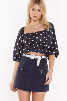 Nasty Gal Womens Spot Your Baby Ruched Crop Top - Black - 6, Black