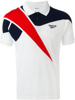 Reebok tricolour polo shirt