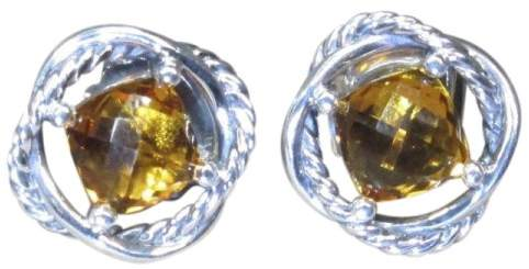 David Yurman Infinity Sterling Silver Citrine Stud Earrings
