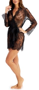 INC International Concepts Inc Women's Sheer Lace Wrap Robe, Created for Macy's