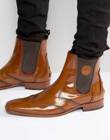 Jeffery West Scarface Leather Chelsea Boots