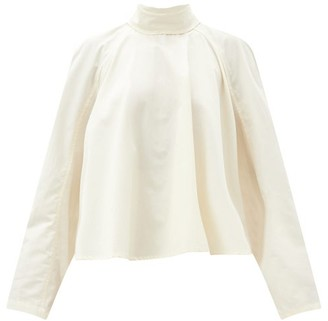Lemaire Buttoned-back Cotton-poplin Shirt - Ivory