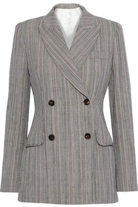 Joseph Moore Prince Of Wales Checked Cotton And Linen-blend Blazer