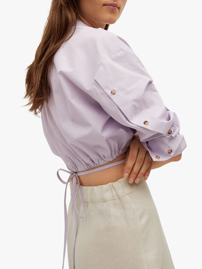 Thumbnail for your product : MANGO Linen Midi Skirt