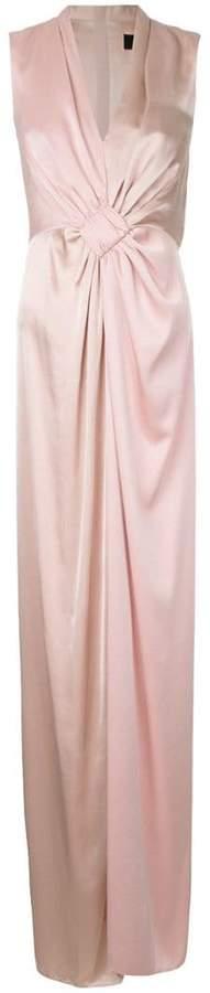 Paule Ka contrast woven column dress