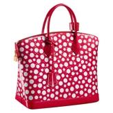 Louis Vuitton 100% Authentic Yayoi Kusama Lockit Patent Leather Red Polka Dot Tote