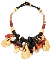 Lizzie Fortunato Gold Mollusk Necklace