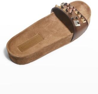 Pedro Garcia Anouk Spike Stud Slide Sandals
