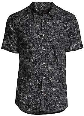 John Varvatos Men's Jasper Fish Scale Graphic Short-Sleeve Shirt