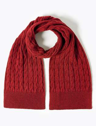 Marks and Spencer Cable Knit Scarf