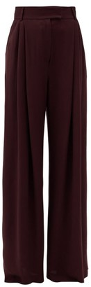 Three Graces London Molly Crepe High-rise Trousers - Burgundy