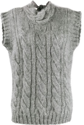 Prada open back knit top